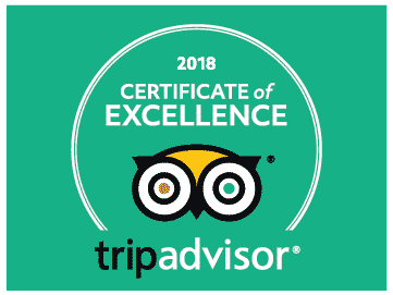 Captain Hook's Awarded the 2018 TripAdvisor Certificate of Excellence