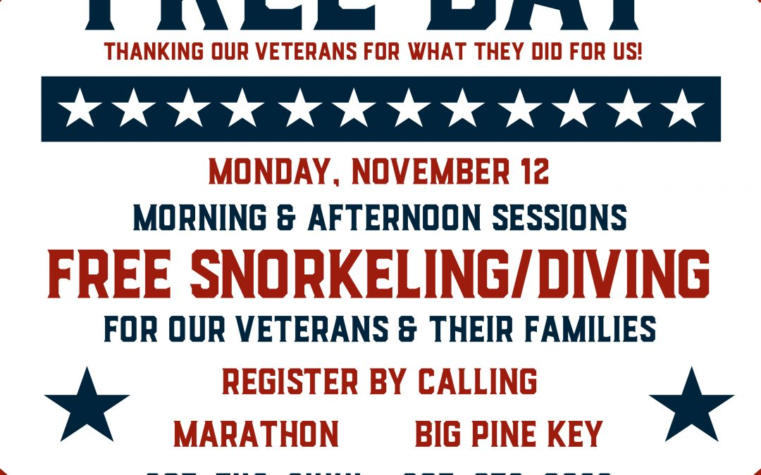 FREE Diving & Snorkeling Day For Our Veterans